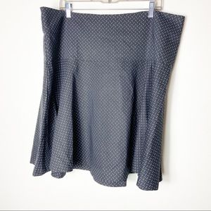 Lane Bryant Women Black Abstract Print Skirt